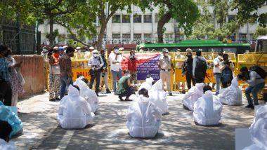 CBSE Class 12 Board Exams 2021: NSUI Protests Outside Ministry of Education, Raises 'Pahle Suraksha, Phir Pariksha' Slogans