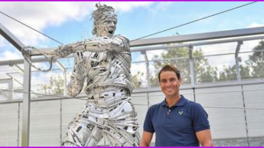 Rafael Nadal's Statue Revealed At Roland Garros Ahead of French Open 2021 First Round Matches