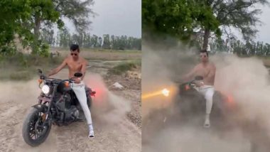 Navdeep Saini Flaunts His New Harley Davidson & Well Chiseled Abs in New Video