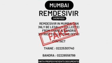 Fake Post Saying Mumbai Residents Can Get Remdesivir Only From Collector's Office in Thane and Bandra Goes Viral, BMC Reveals the Truth