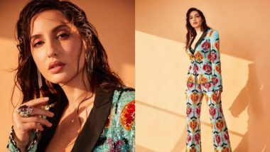 Nora Fatehi Looks Ridiculously Hot in This Sequinned Pantsuit With Plunging Neckline; See Glamorous Ph