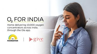 O2ForIndia: Ola Foundation, GiveIndia Partner to Provide Free Oxygen Concentrators Through Ola App