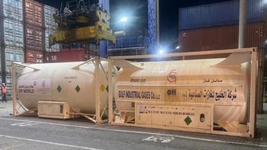 UAE Sends Seven Tankers With 20 MT Liquid Medical Oxygen Each to India, Consignment Arrives at Mundra Port in Gujarat