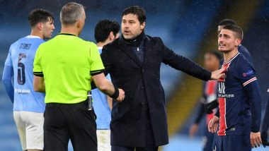 PSG Stars Marco Verratti, Ander Herrera Accuse Referee Bjorn Kuipers of Swearing at Their Team's Players During UCL 2020–21 Semi-final Defeat Against Manchester City