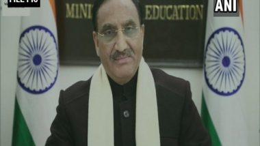 JEE (Main) May 2021 Session Postponed Amid COVID-19 Pandemic, Says Union Education Minister Ramesh Pokhriyal Nishank