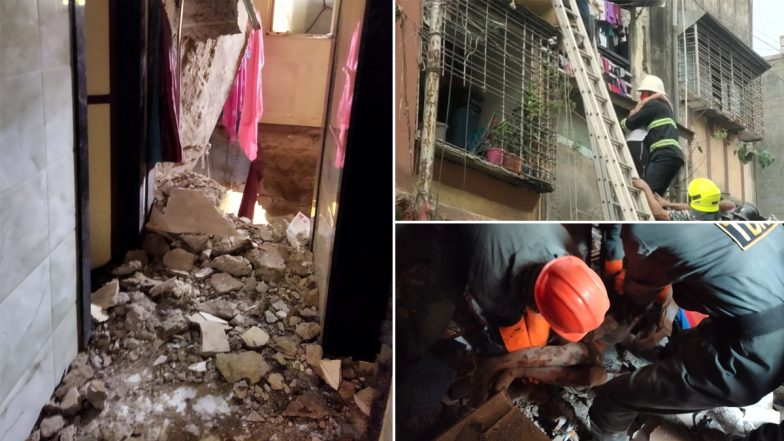 Maharashtra Building Collapse: Portion of Building Collapses in Ulhasnagar City of Thane District; 11 People Rescued
