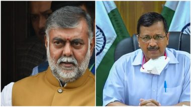 Prahlad Singh Patel Accuses Delhi CM Arvind Kejriwal of Insulting National Flag During COVID-19 Meets, Says 'Green Stripes of Flags Behind Him Are Enlarged'