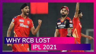 Punjab vs Bangalore IPL 2021: 3 Reasons Why Bangalore Lost