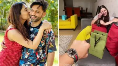 Disha Parmar Surprises Beau Rahul Vaidya With a Gucci Watch Worth Rs 71K As He Leaves for Khatron Ke Khiladi 11!