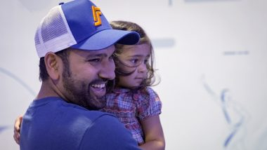 IPL 2021: Rohit Sharma's 'Cutest Partnership' with Daughter Samaira Will Melt Your Heart (View Pic)