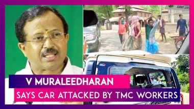 V Muraleedharan, Mos Parliamentary Affairs Says Car Attacked By TMC Workers In West Midnapore, Posts Video