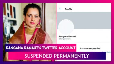 Kangana Ranaut's Twitter Account Suspended Permanently, Says I Have Other Platforms To Use