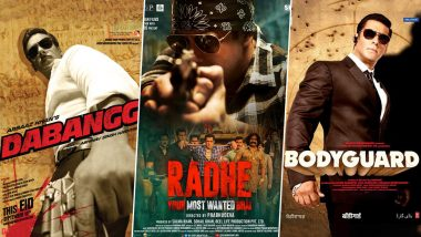 Is Radhe: Your Most Wanted Bhai Salman Khan's Shortest Film to Date? Ranking His 10 Movies With the Least Runtime! (LatestLY Exclusive)
