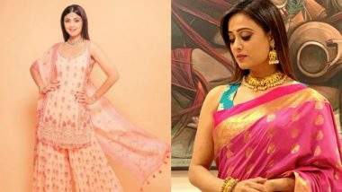 Akshaya Tritiya 2021 Style Guide: 6 Traditional Outfit Ideas Inspired From Shilpa Shetty to Shweta Tiwari to Look Like a Diva This Puja