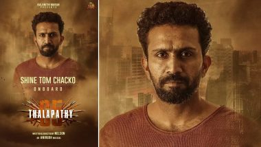 Thalapathy 65: Shine Tom Chacko To Join the Cast of Vijay's Upcoming Movie