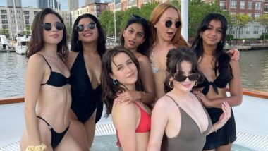 Suhana Khan Looks Hot as She Parties Hard With Her Girl Gang on a Yacht (View Pics)