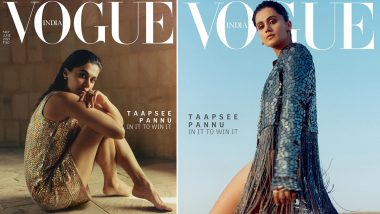 Taapsee Pannu Looks Ravishing In Sequin Fringe Jacket and Slip Dress As She Graces Vogue's May-June Cover, See PHOTOS