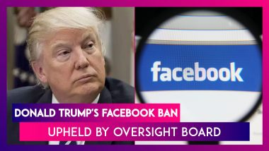 Donald Trump's Facebook Ban Upheld By Oversight Board, Asks Mark Zuckerberg Team To Review It In 6 Months