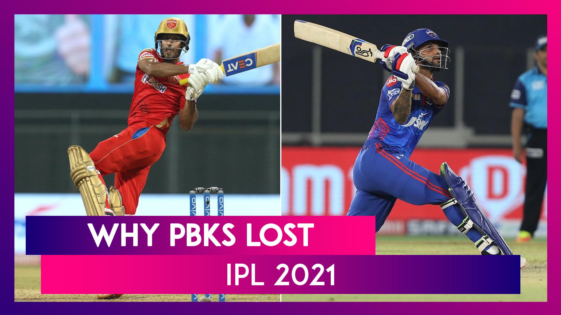 Punjab vs Delhi IPL 2021: 3 Reasons Why Punjab Lost