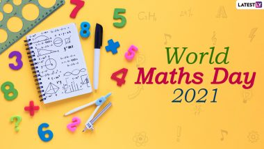 World Maths Day 2021 Wishes and HD Images: WhatsApp Stickers, Facebook Greetings, Signal Messages and Telegram Photos to Share With Math Lovers