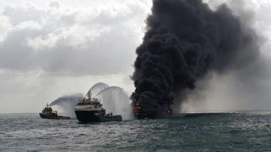 Sri Lanka Flags Possibility Of Acid Rains Due To Burning X-Press Pearl Vessel At Colombo