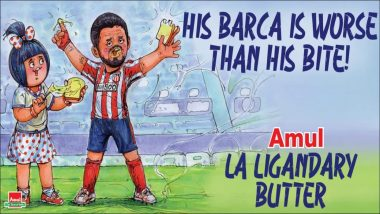 Amul Topical Ad Hilariously Trolls Barcelona As Luis Suarez & Atletico Madrid Win La Liga 2020-21, Says 'His Barca is Worse Than his Bite'