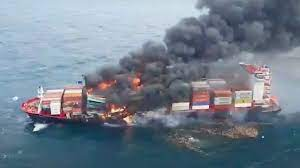 Indian Coast Guard's Operations Continue To Control The Fire Onboard MV X-Press Pearl