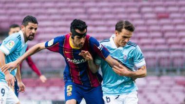 Celta Vigo Beats Barcelona 2-1 in La Liga 2020-21 Match, Santi Mina's Brace Overpowers Lionel Messi's Opener