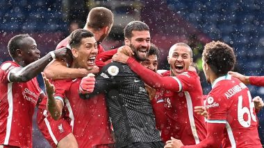 Alisson Becker Reacts After Scoring a Winning Header for Liverpool Against West Brom, Brazilian Stopper Also Breaks 129-Year-Old Record