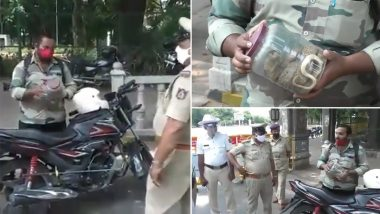 Mysore: Biker Says 'Was Rescuing Snake' When Stopped by Police for Stepping Out Amid Lockdown, Shows Box With Cobra as Proof (Watch Video)