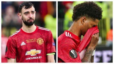Bruno Fernandes, Marcus Rashford, Ole Gunnar Solskjaer in Tears After Losing Europa League 2020-2021 Title to Villarreal (See Pics)
