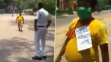 Man Heads out to Buy Sweets Amid Lockdown in West Bengal Because Sweet Shops Are Allowed to Remain Open till 5 PM! Viral Video Is Making Netizens LOL