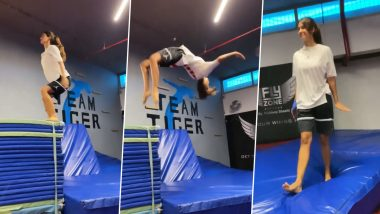 Disha Patani Summersaults Into the Weekend, Captions Her Reel With a BTS Song 'Butter' Reference (Watch Video)