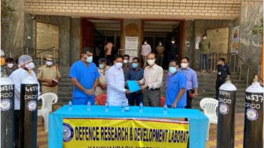 DRDO Delivers 50 Oxygen Cylinders to Hyderabad's Gandhi Hospital