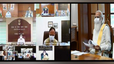 PM Narendra Modi Chairs Meeting Over COVID-19, Emphasises on Localised Containment Strategies, Increased Testing
