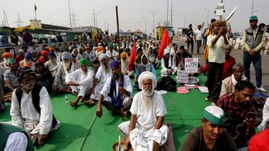 Farmers Protest: Large Convoy of Farmers Leave Punjab's Tarn Taran to Join Delhi Border Agitation