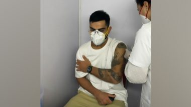 Virat Kohli Receives First Dose of COVID-19 Vaccine, Urges Fans to Get Vaccinated