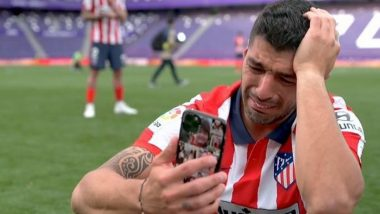 Luis Suarez Breaks Down While on a Call With Friends & Family After Winning La Liga 2020-21, Thanks Atletico Madrid for Rescuing Him From Barcelona (Watch Video)
