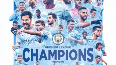 Manchester City Win EPL 2020-21 Title As Leicester City Beat Manchester United 2-1