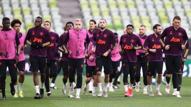 Bruno Fernandes, Marcus Rashford, Paul Pogba & Other Members of Manchester United Sweat It Out Ahead of Europa League 2020-21 Finals Against Villareal (See Pics)
