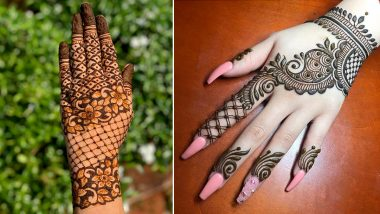 Eid Al-Fitr 2021 Mehendi Designs: Arabic, Trail, Indian, Floral & Rajasthani Mehndi Pattern Images and Video Tutorials for the Festive Day