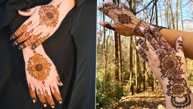 Eid 2021 Latest Mehendi Designs: Easy Arabic, Indian, Rajasthani & Bracelet-Style Mehndi Patterns to Complete Your Eid al-Fitr Look; Check Henna Design Tutorials and Images