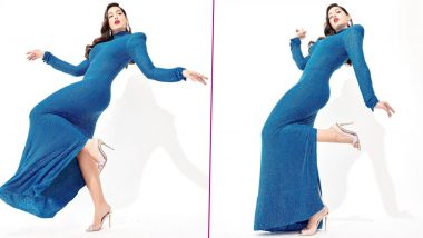 Yo or Hell No? Nora Fatehi's Shimmery Blue Dress By Naeem Khan