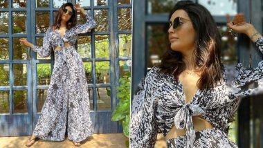 If You Love Prints, Karishma Tanna's Monochrome Co-ord Set Is The Perfect Buy For You! (View Pics)