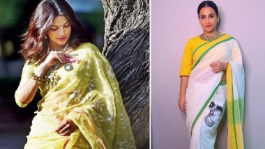 How To Look Stylish in Sarees? From Priyanka Chopra Jonas to Vidya Balan, 9 Bollywood Celebs To Look Up to When It Comes to Styling Handloom Sarees