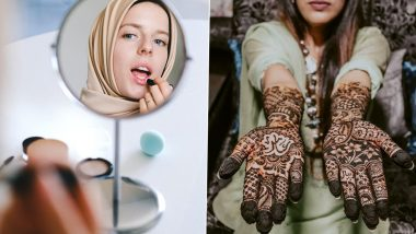 Eid al-Fitr 2021 Mehendi Designs and Quick Makeup Tutorial: Arabic, Indian, Rajasthani, & Trail Style Full and Back-Hand Mehndi Patterns Along with Easy Eid Make Up Look to Go with Your Traditional Attire