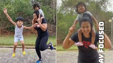 Sameera Reddy Shares Fitness Advice Required for COVID-19 Recovery, Says 'Keep Moving! Stay Focused!' (Watch Video)