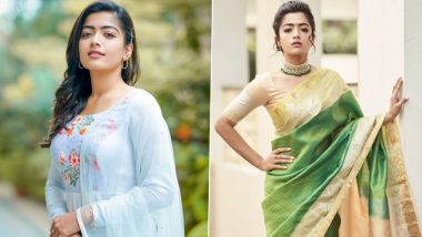 Rashmika Mandanna Style File: From Salwar Suits to Sarees, Take Ethnic Wear Fashion Inspiration From the Queen of South Films