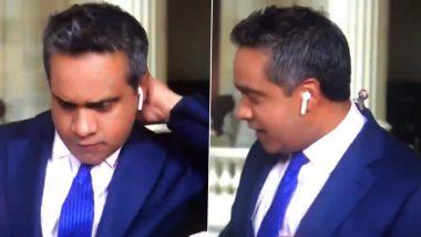 'F***ing Cicada', CNN Reporter Manu Raju Coolly Handles Cicada Bug That Crawled Up His Neck On Live TV (Watch Video)