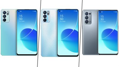 Oppo Reno6, Reno6 Pro and Reno6 Pro+ 5G Renders & Specifications Leaked Online Ahead of Launch: Report
